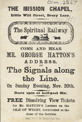 Advert for a Spiritual Talk by George Hatton